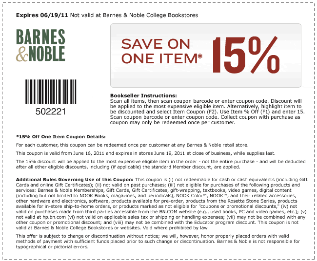 Coupon code for barnes and noble textbook rental