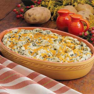 ... mashed potatoes with mexican chili cheese toppers spinach mashed