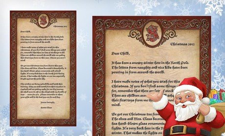 letter from santa groupon custom 50 off christmas deals With groupon santa letter