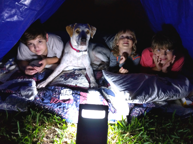Geeked Out Backyard Camping with Energizer | #PoweringSummer